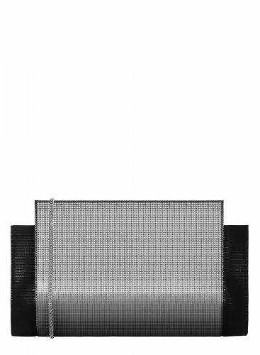c64c2eb41984d Skórzana kopertówka w kolorze srebra i czerni